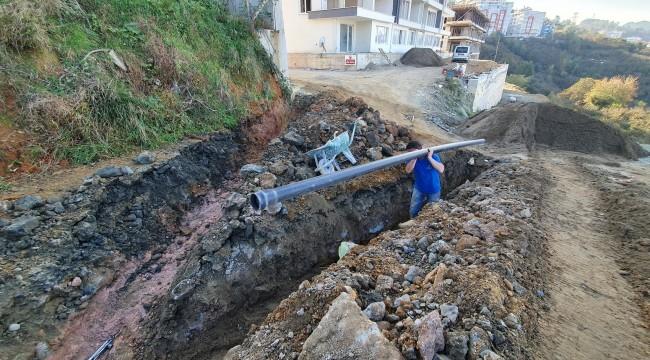 Giresun Belediyesi şehir genelinde içme suyu hatlarıyla ilgili çalışmalarını sürdürüyor.