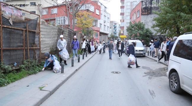 TOPLUM GÖNÜLLÜSÜ 80 GENÇ, KANARYA MAHALLESİ'NDE ATIK TOPLADI