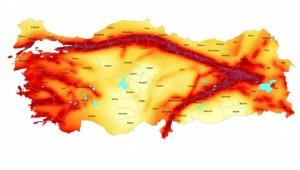 Türkiye'nin deprem tehlike haritası