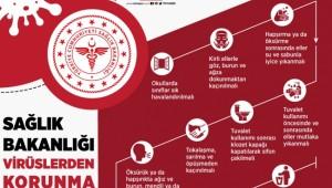 Sağlık Bakanlığı koronavirüsten korunma yollarını paylaştı