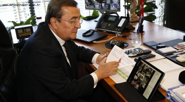 Başkan Batur TBB toplantısına video konferans ile katıldı