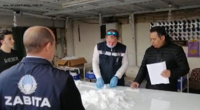 Buca'da koronavirüs denetimleri tam gaz: Kaçak el dezenfektanı ve yüz maskesi baskını