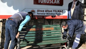 TOROSLAR'DA KORONAVİRÜS TEDBİRİ; BANKLAR KALDIRILDI
