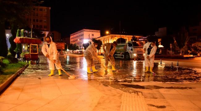 cadde yıkama ve dezenfekte