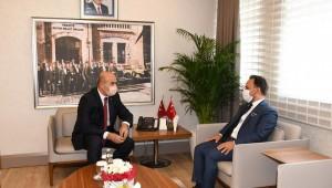 Sarıçam Belediye Başkanı Bilal Uludağ'dan Vali Mahmut Demirtaş'a ziyaret.