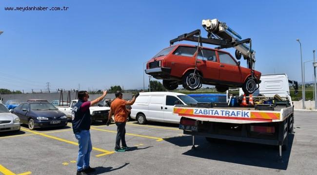 İzmir'de 6 ayda 184 hurda araç çekildi