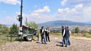 Karabük'te Kameralı Mobil Yangın Gözetleme Kulesi…