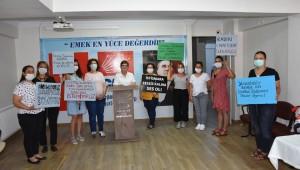 CHP Menemenli kadınlardan İstanbul Sözleşmesi'ne destek