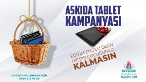 NEVŞEHİR BELEDİYESİ'NDEN 'ASKIDA TABLET' KAMPANYASI