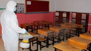 Ödemiş'te yüz yüze eğitime dezenfeksiyon desteği