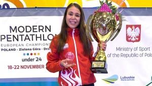 İlke Özyüksel modern pentatlonda Avrupa şampiyonu oldu