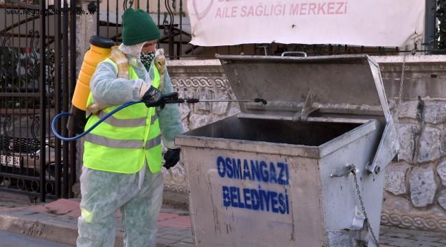 Osmangazi'de Her Noktada Dezenfeksiyon