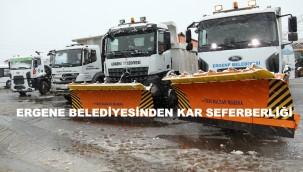 Ergene'de Belediyesinden Kar Seferberliği