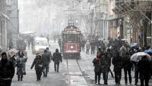 İstanbul'da kar ve soğuk hava uyarısı