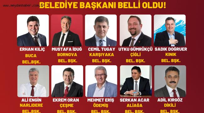 İZMİR'İN EN BAŞARILI 10 İLÇE BELEDİYE BAŞKANI BELİRLENDİ!