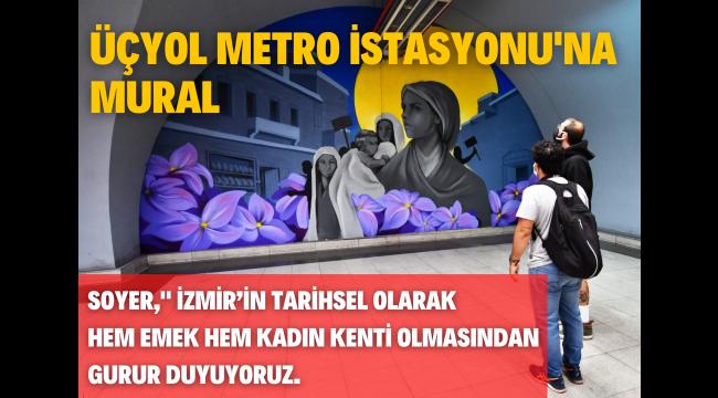 Üçyol Metro İstasyonu'na mural