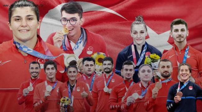 Türkiye 6 branşta ilk kez olimpiyat madalyası kazandı